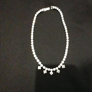 Vintage rhinestones / Crystal necklace